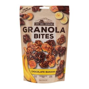 East Bali Cashews - Granola Bites Chocolate Banana 125 g harga terbaik 32200