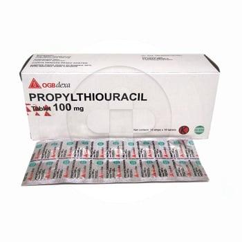 Propylthiouracil tablet digunakan untuk menekan produksi hormon tiroid berlebih