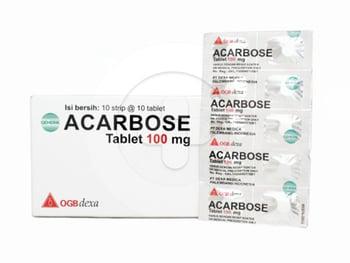 Acarbose OGB Dexa Medica Tablet 100 mg  harga terbaik 18515