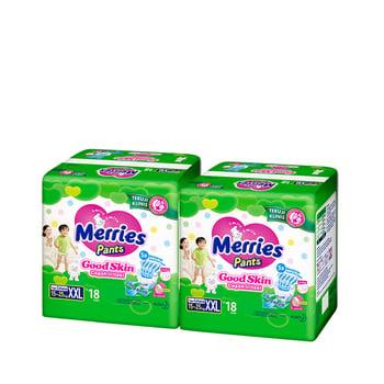 Merries Pants Good Skin XXL 18S - Twinpack harga terbaik 105600