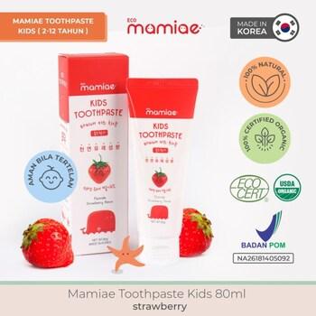 Mamiae Organic Toothpaste/Pasta Gigi Anak 2-12 Tahun 80 ml- Strawberry harga terbaik 109000