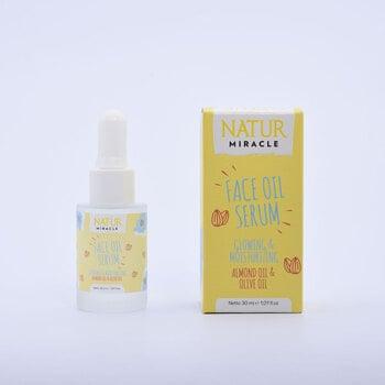 Natur Miracle Face Oil Serum Glowing & Moisturizing : Almond & Olive Oil harga terbaik