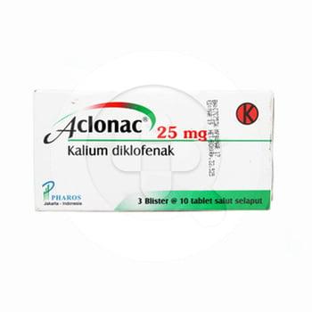 Aclonac tablet adalah obat untuk meredakan nyeri dan mengurangi peradangan