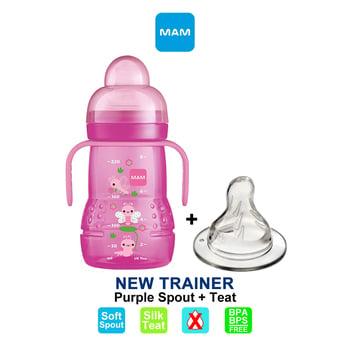MAM Trainer Cup Spout Plus Teat 220 ml - Purple harga terbaik 108987