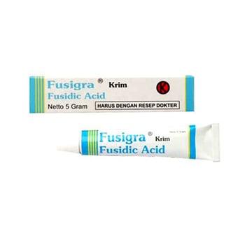 Fusigra krim digunakan untuk pengobatan infeksi kulit yang disebabkan oleh bakteri.