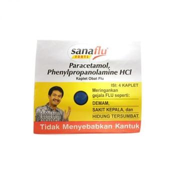 Sanaflu Forte kaplet berfungsi untuk meredakan gejala flu seperti demam, bersin-bersin, dan sakit kepala