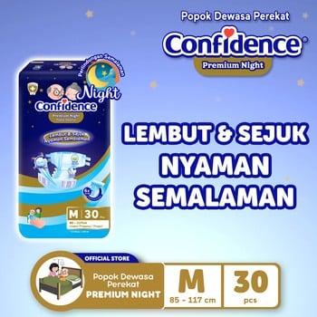 Confidence Popok Dewasa Premium Night M 30 harga terbaik