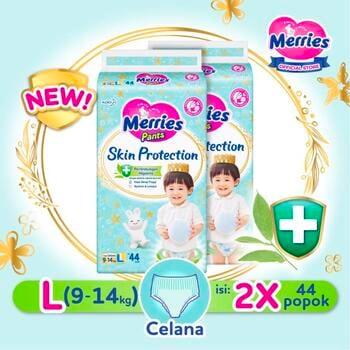 Merries Skin Protection Popok Bayi Celana L 44  harga terbaik 265800
