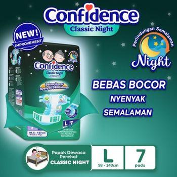 Confidence Popok Dewasa Classic Night L 7 harga terbaik 46000