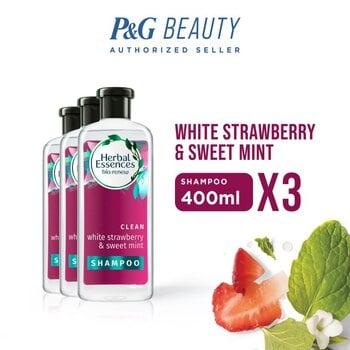 Herbal Essences Shampoo White Strawberry & Sweet Mint 400 ml - Paket isi 3 harga terbaik 299700