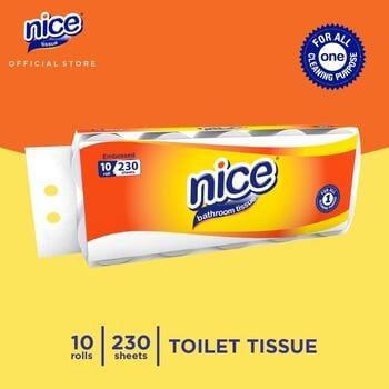 Nice Tisu Toilet Roll Core Emboss 230 Sheets x 10 Roll