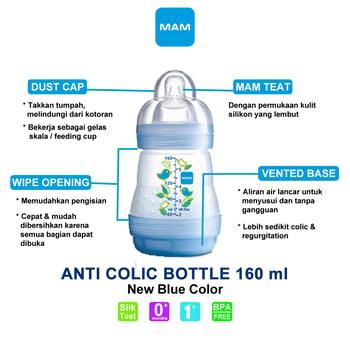 MAM Anti Colic Bottle 160 ml - Blue harga terbaik 92308