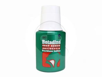 Betadine obat kumur antiseptik adalah digunakan untuk membersihkan rongga mulut