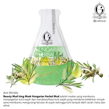 Madame Gie Beauty Mud Icing Mask Hungarian Herbal harga terbaik 3000