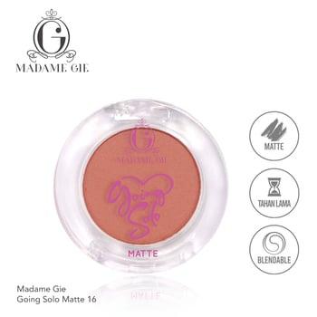 Madame Gie Going Solo Matte Pressed Eyeshadow 16 Festive harga terbaik 16000