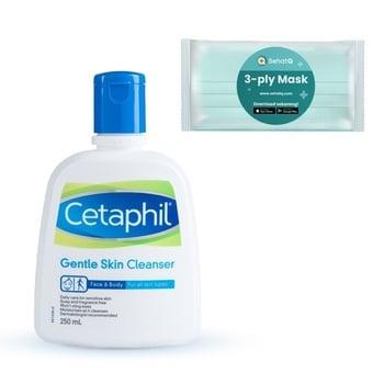 Cetaphil Gentle Skin Cleanser 250ml FREE Masker SehatQ harga terbaik 163900