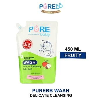Pure Baby Wash Fruity 450 ml - Refill harga terbaik 45619