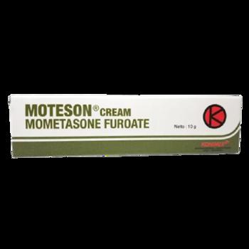 Moteson krim digunakan untuk meredakan gejala peradangan dan gatal yang responsif terhadap kortikosteroid