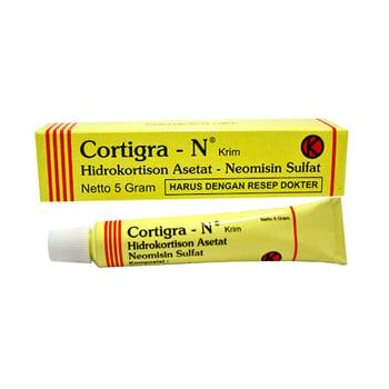 Cortigra-N krim digunakan untuk meringankan nyeri peradangan kulit dan disertai infeksi sekunder.