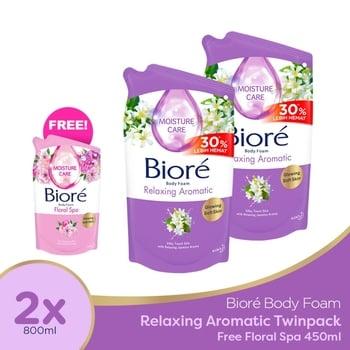 Biore Body Foam Relaxing 800 ml - Twinpack FREE Gift harga terbaik 110008