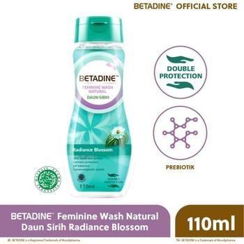 Betadine Feminine Wash Natural Radiance Blossom 110 mL harga terbaik 19716