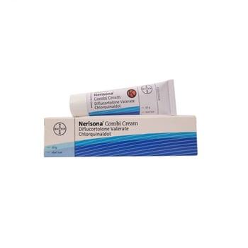 Nerisona Combi adalah obat untuk meredakan peradangan kulit yang peka terhadap kortikoid dan infeksi