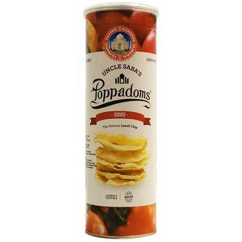 Lentil Uncle Saba's Poppadoms Keripik Kacang - Tomato 70 g harga terbaik 48600