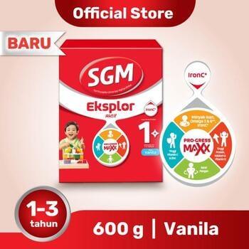 SGM Eksplor 1 Plus Susu Pertumbuhan 1-3 Tahun Vanila 600 g harga terbaik