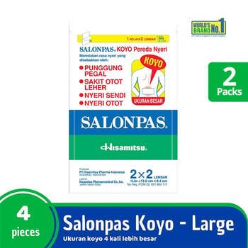 Salonpas Twinpack - Koyo Besar Pereda Nyeri isi 4 harga terbaik 21600