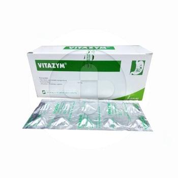 Vitazym tablet untuk terapi kekurangan enzim pankreas dan vitamin B.