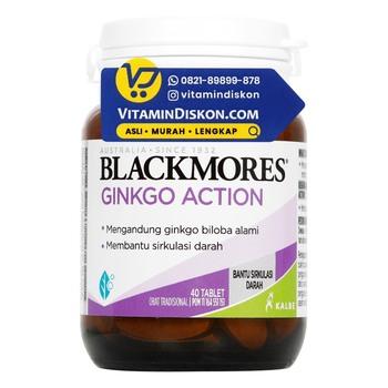 Blackmores Ginkgo Action digunakan untuk membantu sirkulasi darah