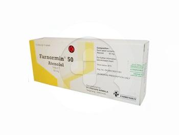 Farnormin tablet 50 mg obat untuk pengobatan hipertensi, angina pektoris, aterosklerosis.
