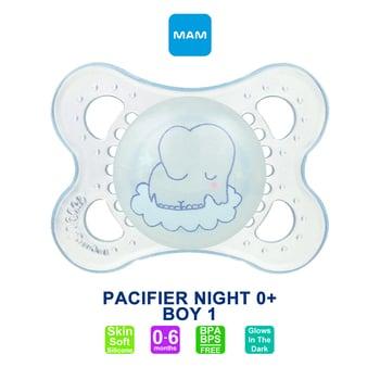 MAM Pacifier PCF Night 0+ Months - Dot Bayi - Boy 1 harga terbaik 59162