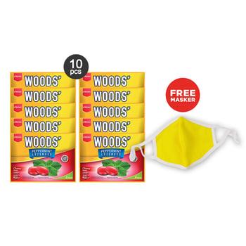 Woods Lozenges Cherry Family pack Free Masker harga terbaik 54900