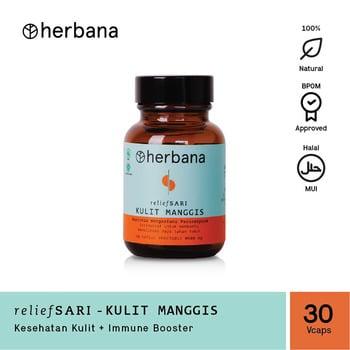 Herbana Relief Sari Kulit Manggis - 30 Kapsul harga terbaik 109000