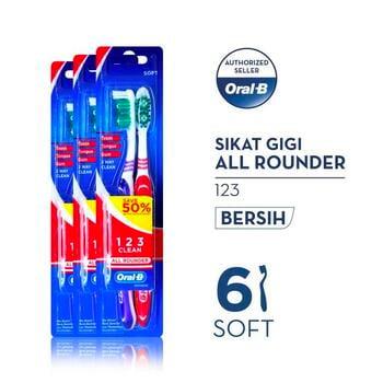 Oral-B Sikat Gigi All Rounder 123 Soft 2s Paket Isi 3 harga terbaik 29700