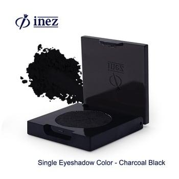 Inez Single Eyeshadow Color Charcoal Black harga terbaik