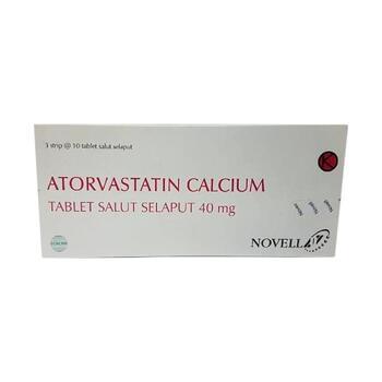 Atorvastatin Novell tablet adalah obat untuk menurunkan kadar kolestrol jahat dan trigliserida