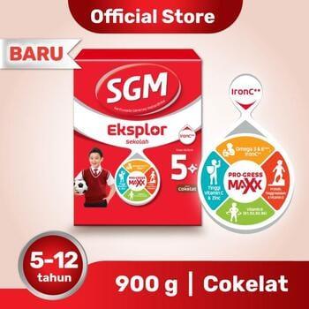 SGM Eksplor 5 Plus Susu Pertumbuhan 5-12 Tahun Coklat 900 g harga terbaik