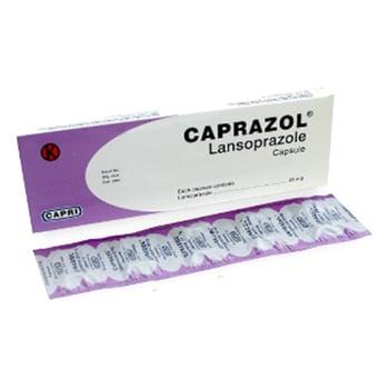Caprazol kapsul digunakan untuk mengobati luka pada dinding usus dan lambung serta peradangan pada kerongkongan.