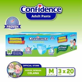 Confidence Popok Celana Medium Flow E-Pack M 60 harga terbaik