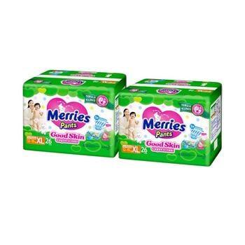 Merries Pants Good Skin XL 26S - Twinpack harga terbaik 131000