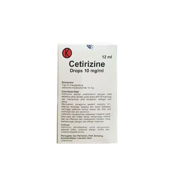 Cetirizine Drops adalah obat untuk mengatasi gejala alergi, seperti bersin, gatal, dan mata berair
