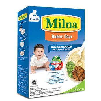 Milna Bubur Reguler 8 Bulan Hati Ayam Brokoli, MPASI 8 Bulan