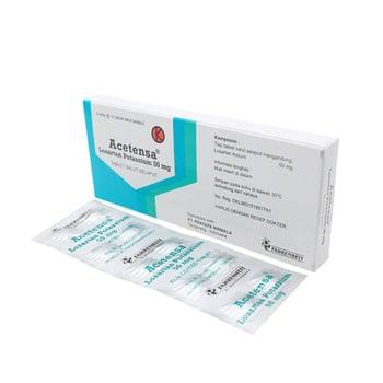 Acetensa tablet adalah obat untuk membantu menurunkan tekanan darah tinggi (hipertensi)