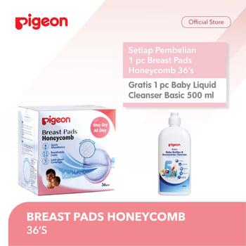 Pigeon Breast Pads Honeycomb Isi 36 Pcs - Free LCB 500 ml Bottle harga terbaik