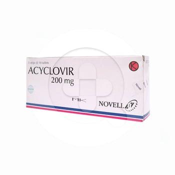 Acyclovir Novell 200 mg (1 Strip @ 10 Tablet)