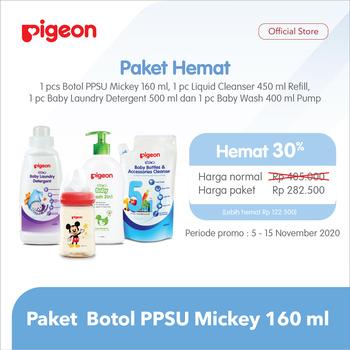 Pigeon Paket Botol PPSU Mickey Disney 160 ml harga terbaik