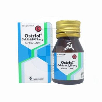 Ostriol tablet digunakan untuk gangguan pada tulang. Obat ini merupakan obat keras yang harus menggunakan resep dokter. Ostriol mengandung calcitriol