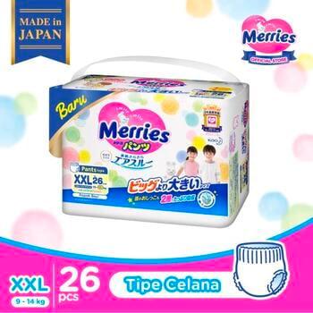 Merries Premium Popok Bayi Celana XXL 26 harga terbaik 204600